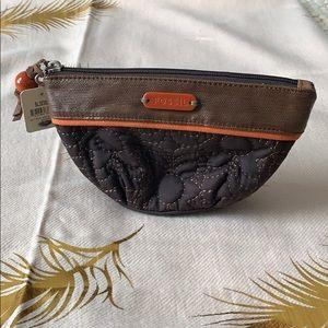 FOSSIL Brown Orange Mini Bag NEW